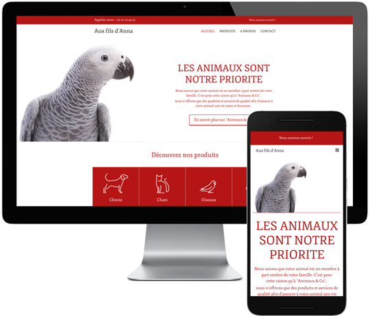 Template Site Web Animaux