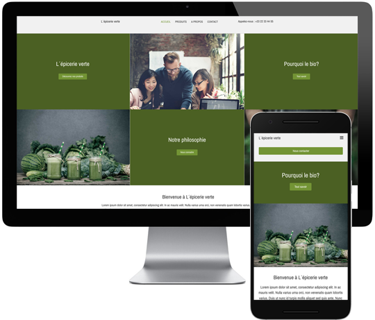 Template Site Web Epicerie